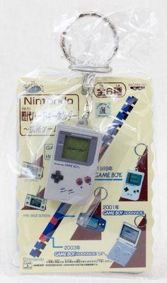 Nintendo Game Console History Miniature Figure Key Chain Game Boy 1989 JAPAN