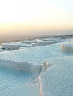 Pammukale, Turkey, natural hotsprings also known as Cotton Castle