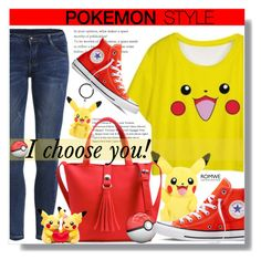 I choose you! - Pokemon style by jenny007-281 on Polyvore featuring polyvore fashion style Converse clothing