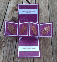 Inside Petals and Paisleys Suite Pop Up Panel card #stampinup…