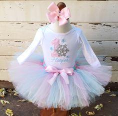 Winter Onederland 1st Birthday Tutu Outfit by CardsandMoorebyTerri