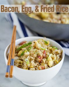 This Bacon, Egg, And Rice Dish Is So Easy You'd Be A Fool Not To Make It