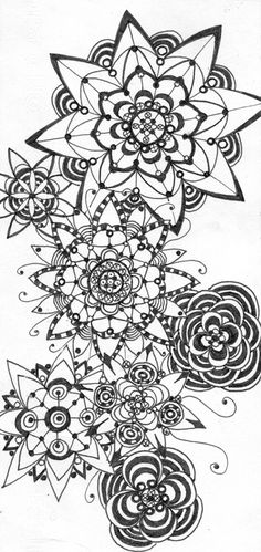 Disegno di fiori da colorare disegni da colorare pinterest for Disegni di fiori a matita