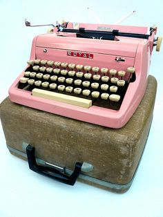 pink manual typewriter...  someday and when that happens I'll send you a letter!