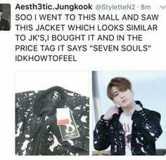 ....does this mean Kookie sold his and his hyungs' souls for that jacket?