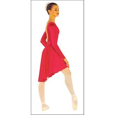 Long Sleeve Dance Dress by On Stage : OSD-0052, On Stage Dancewear, Capezio Authorized Dealer.