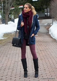 I love this so much...plum and navy