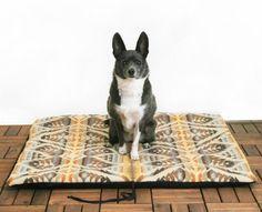 Pendleton wool dog mat