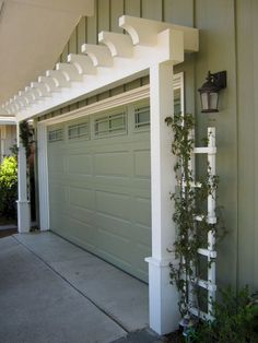 If a man's home is his castle, then your garage door is the drawbridge. The garage is your portal to the exterior world, where you store your car and extra Garage Storage Systems, Diy Garage Storage, Shed Storage, Storage Organization, Cabinet Storage, Smart Storage, Carriage Garage Doors, Garage Pergola, Small Pergola