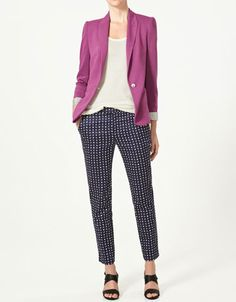 with my polka dot pants instead and mint blazer