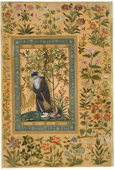 An aged Mullah. Opaque watercolour and gold on paper India or Pakistan; ca. 1615 Artist: Farrukh Beg, born ca. 1545