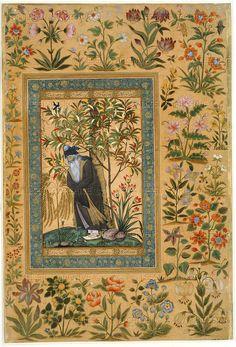 Persian - MOGHUL MINIATURE PAINTING 17TH CENTURY