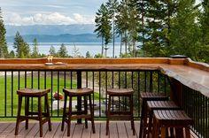 simple bars for backyard decks | wrought iron deck railing | Acutech