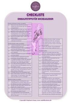 So finden Sie Ihr perfektes Wickelkleid: Meine Einkaufs-Checkliste für Wickelkleider jetzt zum Download auf meinem Blog!