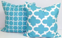 BLUE DECORATIVE PILLOW.16x16 Inch Pillow by ElemenOPillows on Etsy