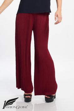 Pantalón plisado rojo