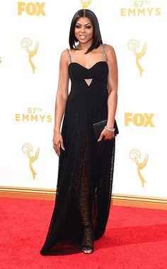 Taraji P. Henson in custom Alexander Wang at the 2015 Emmys