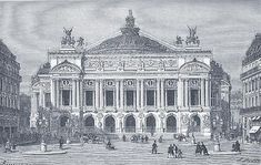 """""""The magnificent Opéra Garnier in Paris was inaugurated on 5 January Joyeux anniversaire Covent Garden, Sydney Opera, Charles Garnier, Paris Opera House, Le Palais, Phantom Of The Opera, Vignettes, Barcelona Cathedral, Big Ben"""