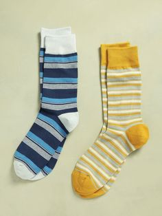 MULTI STRIPE SOCKS $28