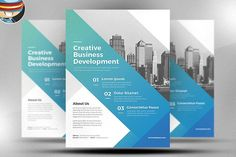 Corporate Flyer Template v5 by FlyerHeroes on @creativemarket