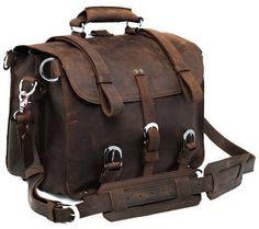 Handmade Full Grain Leather Heavy Duty Travel Messenger Bag & Backpack #handcraftedleatherbag #handmadeleatherbag