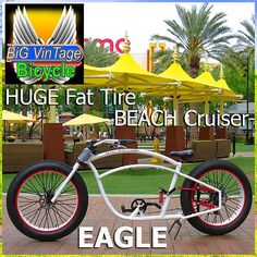 Big Vintage Bicycle EAGLE Fat Tire Beach Cruiser fat bike oldschool cruiser steampunk bike bicycle bikes rat rod balloon tire fat tire custom electric bike beach cruiser fat tire bikes lowrider lowrider bikes