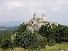 Cachtice (Csjethe) Castle - where the Countess was found dead in August of 1614