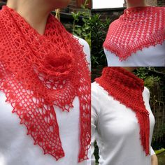 Looking for a delicate crochet lace scarf idea?  Summer Sprigs Lace Scarf by Esther Chandler is gorgeous free pattern that needs to be in your pattern library.