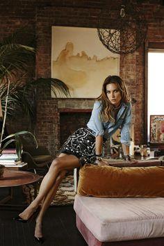 Erin Wasson in S Moda...love denim with a twist...super chic!