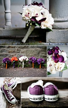 purple and white - beautiful bouquet