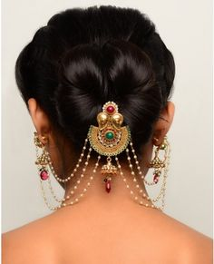 ORNATE CRESCENT SHAPED HAIR PIN