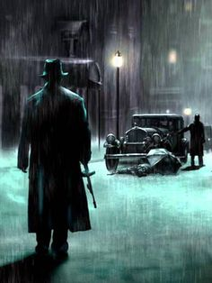 Road to Perdition - original artwork based on the movie #GangsterMovie #GangsterFlick