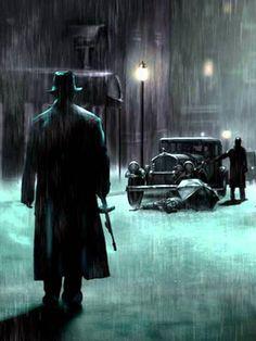 Road to Perdition - original artwork based on the movie #GangsterMovie #GangsterFlick