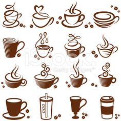 Coffee cup royalty free vector white vector icon set royalty-free stock vector art