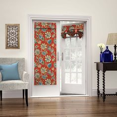 Shop for Waverly Clifton Hall French Door Panel. Get free delivery On EVERYTHING* Overstock - Your Online Home Decor Outlet Store! Get in rewards with Club O! French Door Curtains, Drapes Curtains, Waverly Curtains, Pergola Curtains, Valances, Floral Room, Pocket Doors, Rod Pocket, Shades Blinds