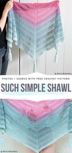 The simplest way to get chic is by pairing your outfits with Gradient Colorway Crochet Shawls. Doily Patterns, Knitting Patterns, Crochet Patterns, Crochet Ideas, Crochet Shawl, Crochet Yarn, Free Crochet, Yarn Organization, Crochet Summer Tops