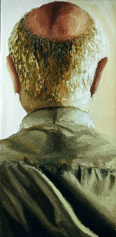 """"""" ... older man portrait from the back male bald ... """""""