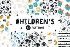 Children patterns Bundle by tatiletters on @creativemarket