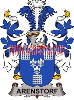 Arenstorf coat of arms / family crest #denmark #by name #symbol #family #shield #crest #by last name #genealogy #heraldry #shields #danish #tattoo #craft #logo