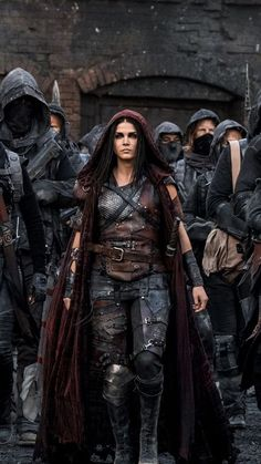 Marie Avgeropoulos as Octavia Blake in The 100 (CW Marie Avgeropoulos, Medieval Combat, The Hundreds, Hippie Man, The Witcher, Larp, Female Characters, Character Inspiration, Science Fiction