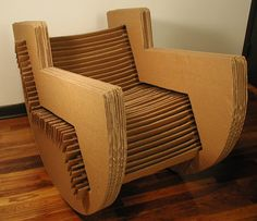 cardboard rocking chair - slotted design: no adhesives or fasteners