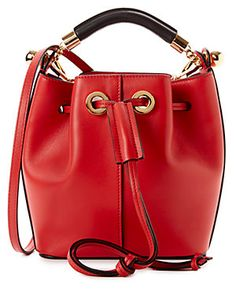 Chloe Gala Small Leather Bucket Bag