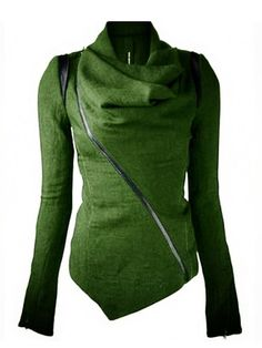 Irregular Cut Design Casual Outerwear - WealFeel