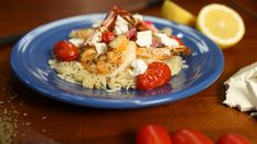 Try this recipe for Garides Me Kritharaki from PBS Food. Pbs Food, Orzo, Fish And Seafood, Feta, Tart, Dinner, Cooking, Sweet, Recipes