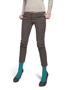 Grey pants.