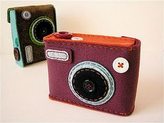 felt button cameras