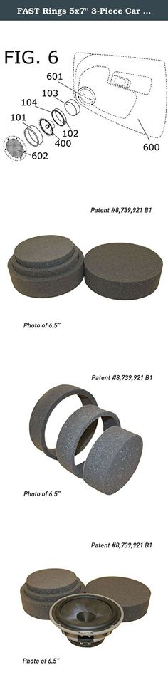 "FAST Rings 5x7"" 3-Piece Car Speaker Enhancement Kit. FAST Rings 5X7"" 3 Piece Speaker Enhancement Kit FAST Rings solve the problem of acoustically coupling aftermarket speakers to factory speaker openings. It's a laser cut foam product with industrial-grade, peel away adhesive backing. The rings separate into three pieces. The first FAST Ring is a dedicated gasket for speaker mounting to the baffle plate surface. The second ring mounts around the outer edge of the speaker, just past the..."