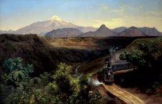 Jose Maria Velasco, Harvard Art Museum, Chicano Art, Mexican Art, Mexico Travel, Mexico City, Landscape Paintings, Landscapes, Bob Ross