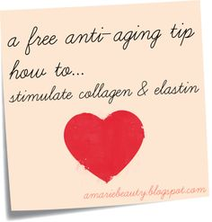 skin care, youthful skin.  Stimulate collagen and elastin.