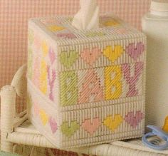 Baby Boutique Tissue Box Cover Plastic Canvas Pattern from All Stars | eBay